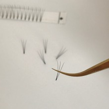 Own brand eyelashes wholesale uk sik silk short 2D 3D 4D 5D 6D volume lashes 100% hand-made natural look pre made fans