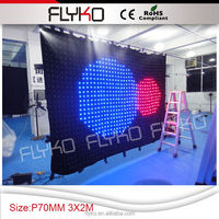 Hot!! expressing by the alibaba Children's day showing led curtain