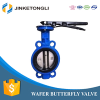 china wholesale JKTL heating system Zinc Plated Steel centric butterfly valve
