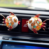 Fish Shaped with Colorful Opal Car Perfume Accessories on Vent, Fragrance Perfume Car Accessories