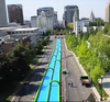giant1000ft slip n slide inflatable slide the city,fun extrem city slide