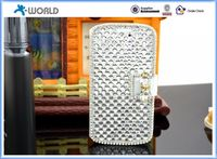 wallet stand diamond bling leather case for samsung galaxy S3
