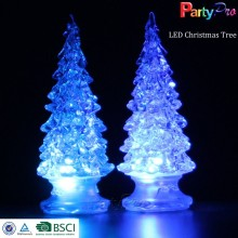 New Design Colorful Color Changing LED Glass Christmas Tree