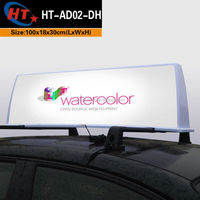 Taxi car roof electronic product advertising