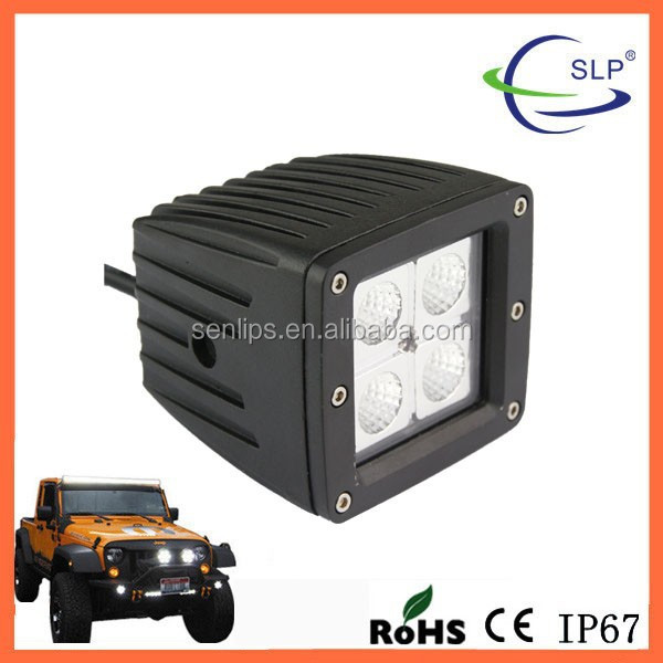 16W Square 4X4W Led Work Light Bar for SUV, ATVs, Trucks For all vehicles