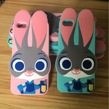 Personalized Zootopia 3D Rabbit Judy Silicone Cell Phone Case For Smar Phone , Best Ladies Girls Gift