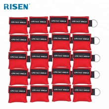CPR Mask Keyring Pack of 5pcs Emergency Kit Rescue Face Shields with One-way Valve Breathing Barrier