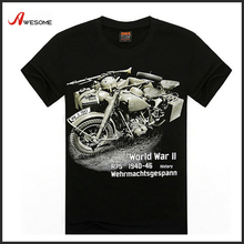 World War Motorcycle t-shirt 3D no name brand t-shirts for men