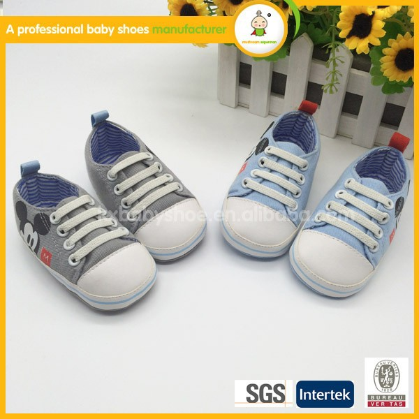2015 spring fashion baby shoes per-walker canvas boy shoes