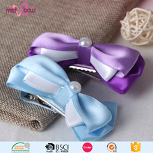 Cheap japanese style satin ribbon bow hair clip for women
