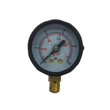 Black steel air stainless steel ball pressure gauge