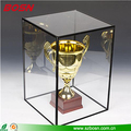 High quality customize clear acrylic trophy case plexiglass award display cabinet
