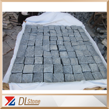 G654 Light Grey granite Natural+tumbling granite cheap paving blocks