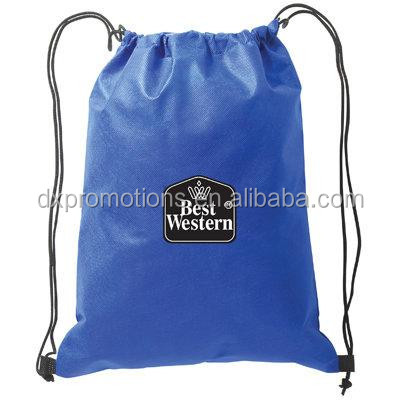 Quality custom polyester drawstring backpack/polyester drawstring bag