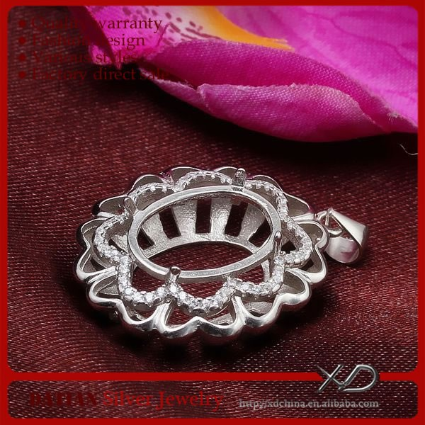 XD Fashion 925 sterling pendant bezel pendant trays and settings