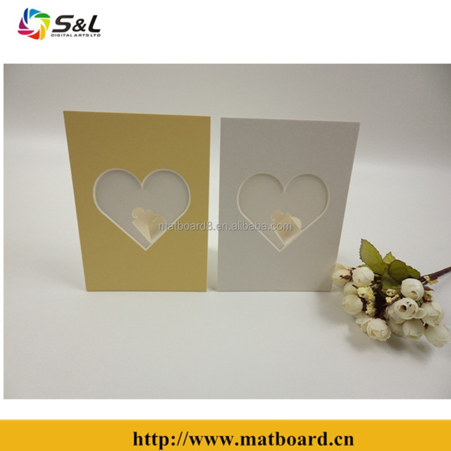 Wholesale matboard photo frame with atypical openings and dual easels back