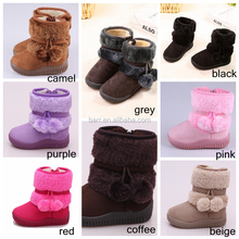 Fashion windproof child winter snow boot