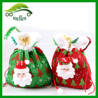 Hot sale stock christmas bags for candy