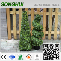 home new products design cheap indoor artidicial topiary trees leaves