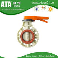 china supplier factory supply PP/PVC handle manual butterfly valves spefications