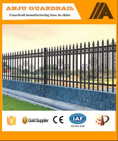 Fashionable designs for steel fence on courtyard wall DK003