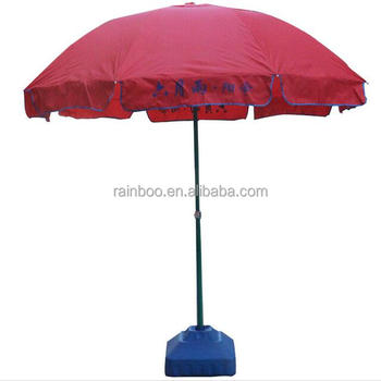 High quality windproof logo printed cheap outdoor beach umbrella