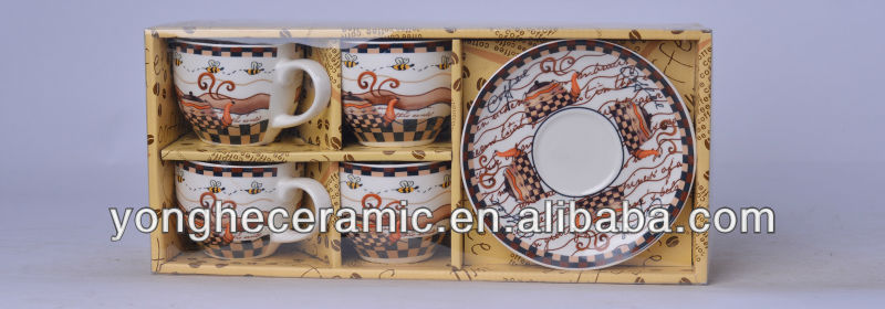 Gift Packing Wholesale Ceramic Plates/Saucers and Cups/Mugs