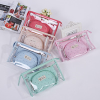 travel wash bag 3pcs one set makeup bag fashion latest ladies handbags Wholesales E14003
