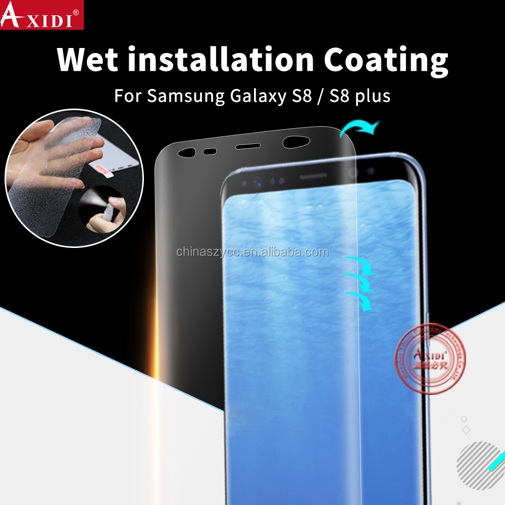 Invisible Shield Wet Solution Clear Coating Anti Shock Screen Protector for Samsung galaxy S8/S8 plus Full Cover
