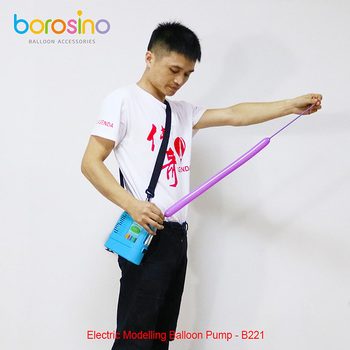 Borosino Balloons Accessories Portable Electric Balloon Pump with Battery for Twisting Balloons B221