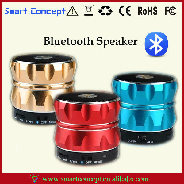 Multimedia Equipment Hi-Fi Mini Portable Metallic Design Bluetooth Speaker