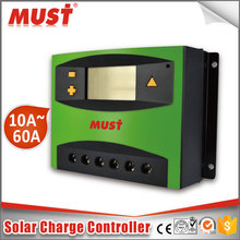 Must PWM 40A LCD USB 5V Solar Charge Controller 12V 24V Dual timer Control Solar Panel Batteries Charger
