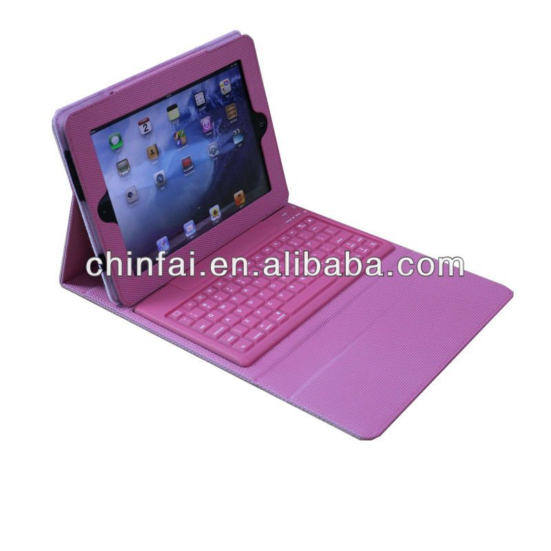For iPad2 Silent Silicone Bluetooth Leather Keyboard Case CE And FCC