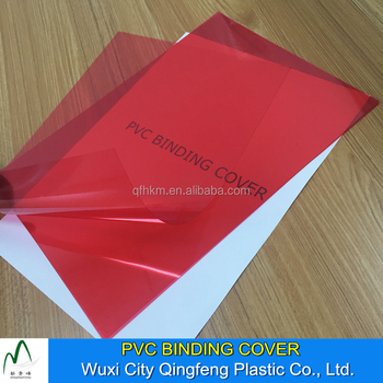 A4 210 by 297mm Red Color PVC Book Binding Cover PVC Sheet For Book Binding Cover