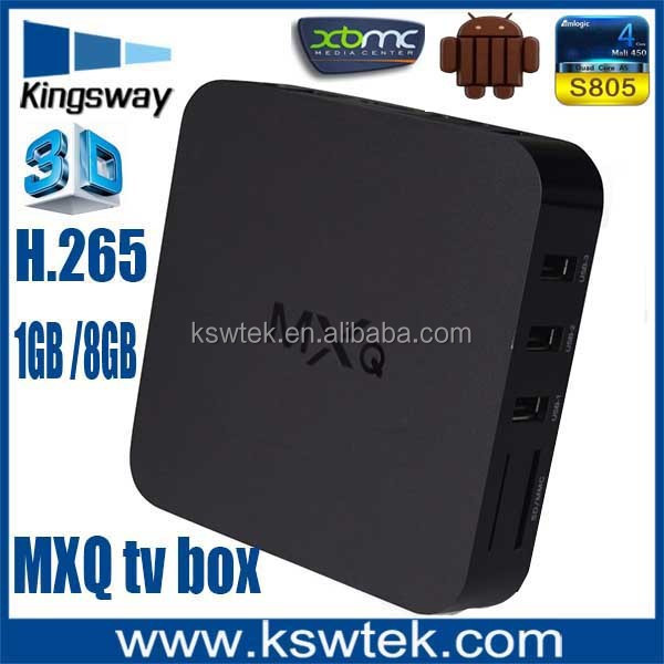 New arrival octo-core mail-450 mxq tv box amlogic S805 iptv box japanese tv internet tv box