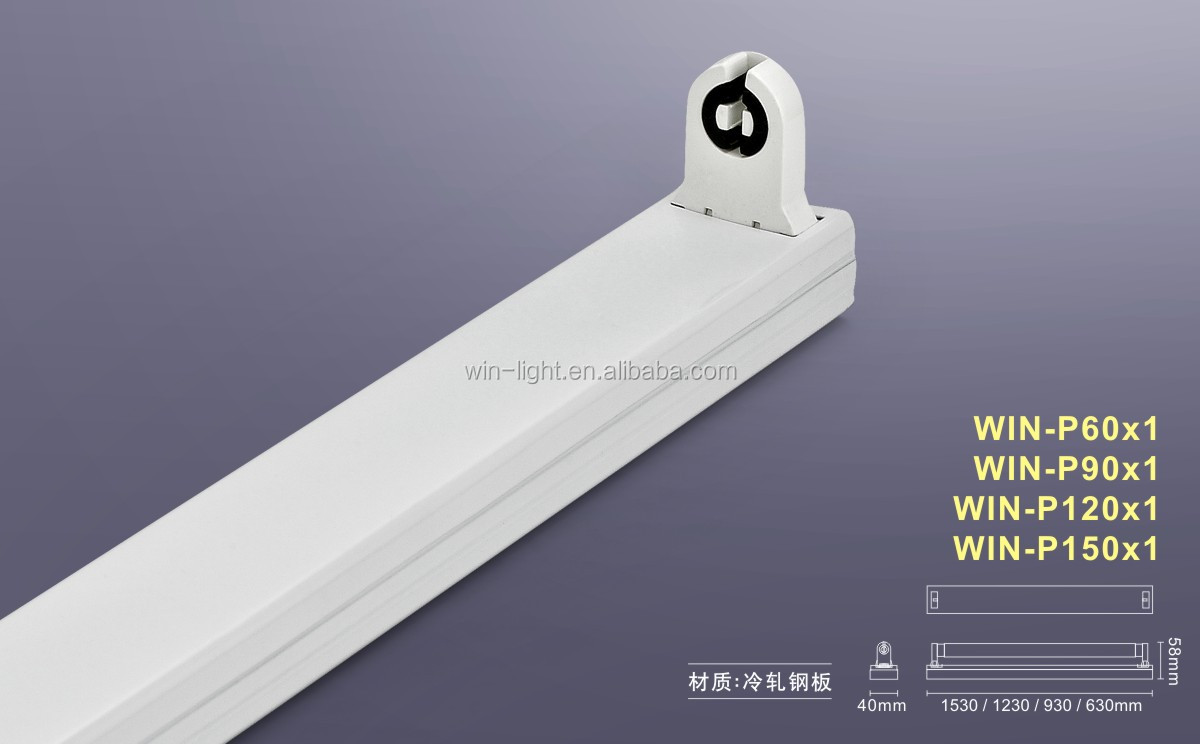 No Need Ballast Or Starter T8 Led Light Bracket 60cm Lamp Fixture Without