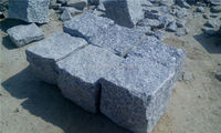 Grey granite garden stepping pavements