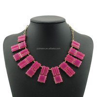 New Luxury Wholesale Hot Pink Choker Collar Women's Gender Jewelry