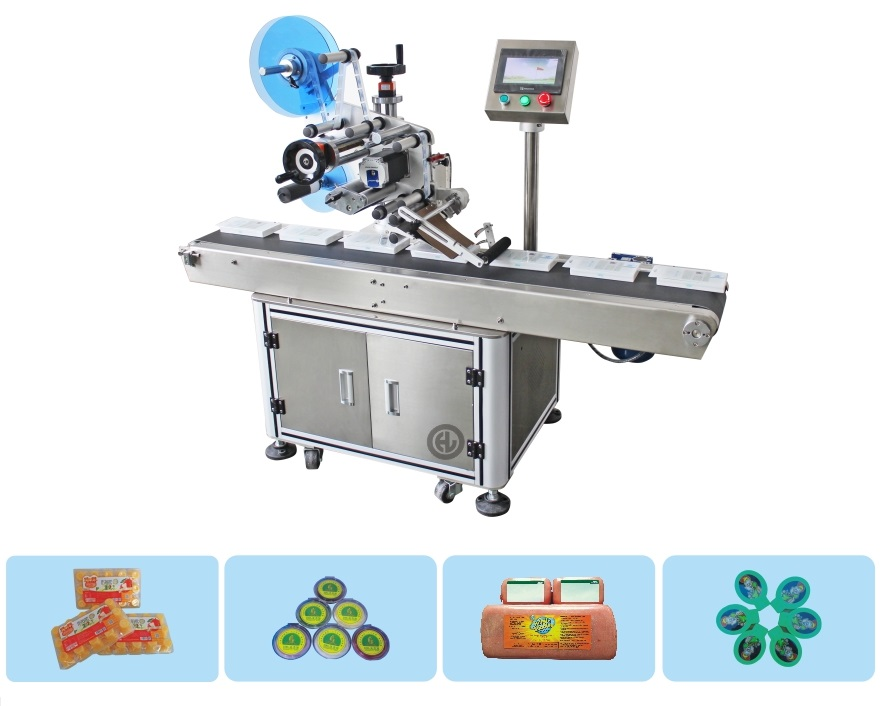 Full Automatic Plane product labeling machine flat top surface labeling machine