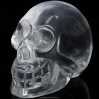 Animal Skull Carving Clear Quartz Crystal Carved Skull for Sale