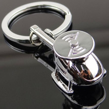 Heavy Duty Car Keychain Metal Helicopter Model Keychain for Man and Women