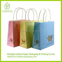 Decorative Cute Retail Mini Kraft Paper Gift Bags for Kids Gift