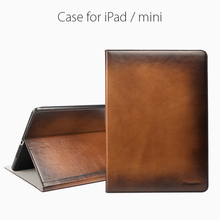 Genuine leather case for ipad air folding stand sleeve for pad