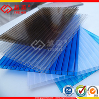 Lexan Virgin Clear Polycarbonate Awning Sheet PC Roofing Material Plastic Hollow Panels for greenhouse