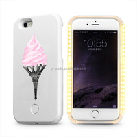 Shenzhen factory OEM printing design led phone case for iphone SE, led bulb light up phone case