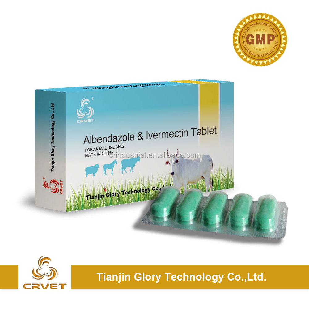 Albendazole and Ivermectin Tablets Veterinary Medicine Parasite Drug