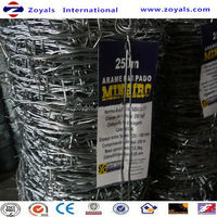 ISO9001:2008 Good Quality Hot Sale!! Fumigated Wooden Handle Galvanized Barbed Wire Factory Price