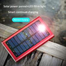 10000mah portable solar power battery bank charger with LED light