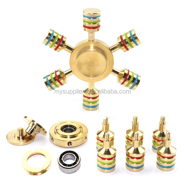 Removable Gyroscope Fingertips Spiral 6 Horn Luminous Metal Hand Spinner