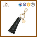2015 newest style Fashion hot sales black leather tassel keychain